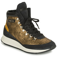 Shoes Women High top trainers Philippe Model MONTECARLO Gold / Black