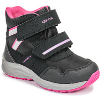 Shoes Girl Snow boots Geox J KURAY GIRL B ABX Black / Pink