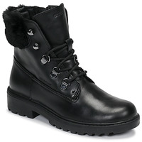 Shoes Girl Mid boots Geox J CASEY GIRL WPF Black