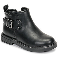 Shoes Girl Mid boots Geox J ECLAIR GIRL Black