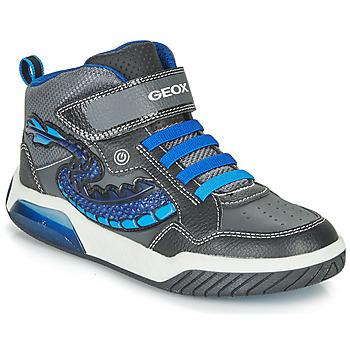 Shoes Boy High top trainers Geox J INEK BOY Black / Blue