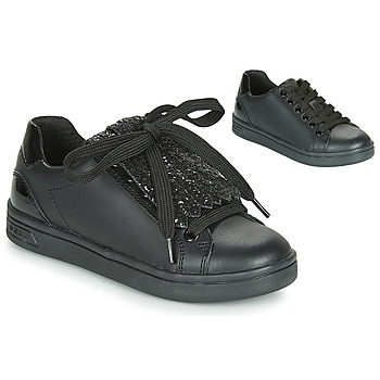 Shoes Girl Low top trainers Geox J DJROCK GIRL Black