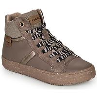 Shoes Girl High top trainers Geox J KALISPERA GIRL Grey