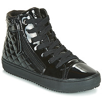 Shoes Girl High top trainers Geox J KALISPERA GIRL Black