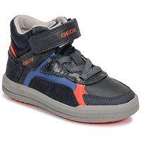 Shoes Boy High top trainers Geox J ARZACH BOY Blue / Orange