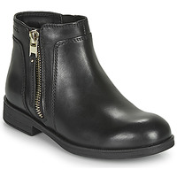 Shoes Girl Mid boots Geox JR AGATA Black