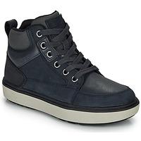 Shoes Boy High top trainers Geox J MATTIAS B BOY ABX Blue / Black / Waterproof