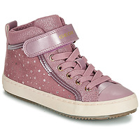 Shoes Girl High top trainers Geox J KALISPERA GIRL Pink