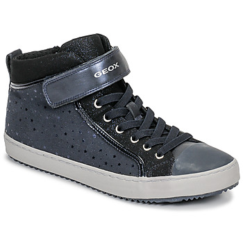 Shoes Girl High top trainers Geox J KALISPERA GIRL Blue