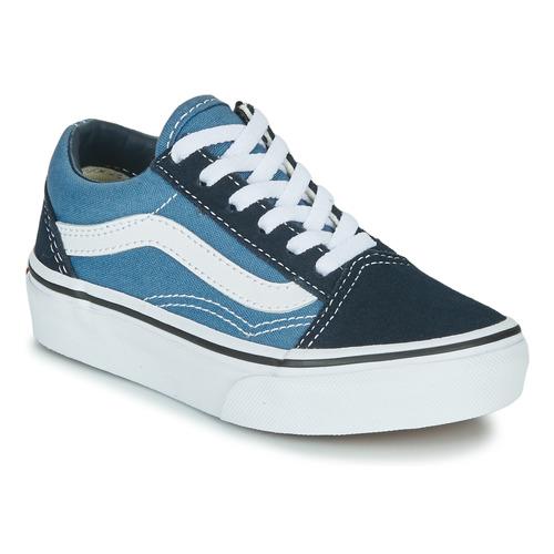 Shoes Children Low top trainers Vans UY OLD SKOOL Marine / White