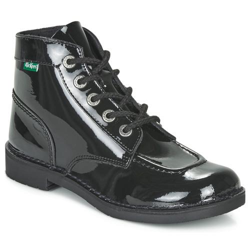 Shoes Women Mid boots Kickers KICK COL Black / Patent