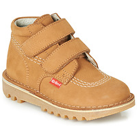 Shoes Boy Mid boots Kickers NEOVELCRO Camel