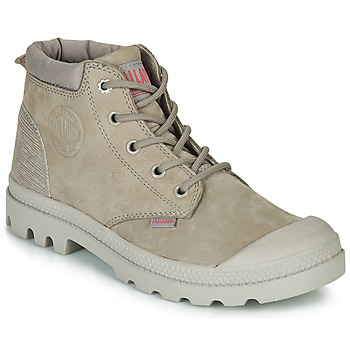Shoes Women Mid boots Palladium PAMPA LO CUFF LEA Grey