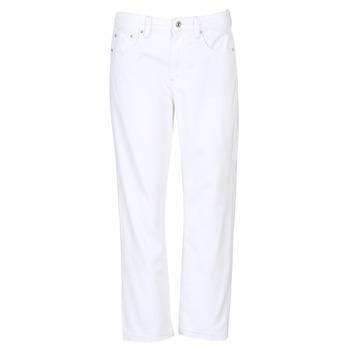 material Women Boyfriend jeans G-Star Raw 3301 MID BOYFRIEND 7/8 White