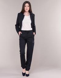 material Women Cargo trousers G-Star Raw FELDSPAR HIGH STRAIGHT CARGO Marine