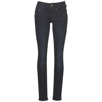 material Women straight jeans G-Star Raw MIDGE MID STRAIGHT WMN Blue / Dark / Aged