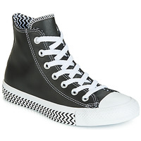 Shoes Women High top trainers Converse CHUCK TAYLOR ALL STAR VLTG LEATHER HI Black