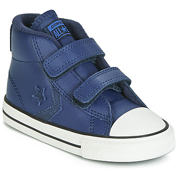 Shoes Children High top trainers Converse STAR PLAYER 2V ASTEROID LEATHER HI Blue