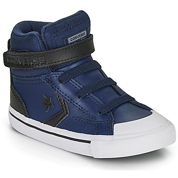 Shoes Children High top trainers Converse PRO BLAZE STRAP MARTIAN LEATHER HI Blue / Black