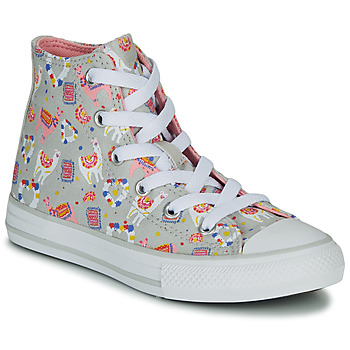 Shoes Girl High top trainers Converse CHUCK TAYLOR ALL STAR LLAMA HI Grey / Multicoloured