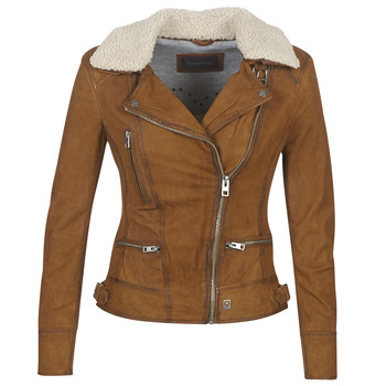 material Women Leather jackets / Imitation le Oakwood PROJECTION Brown