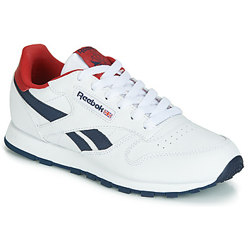 Shoes Children Low top trainers Reebok Classic CLASSIC LEATHER J White / Red