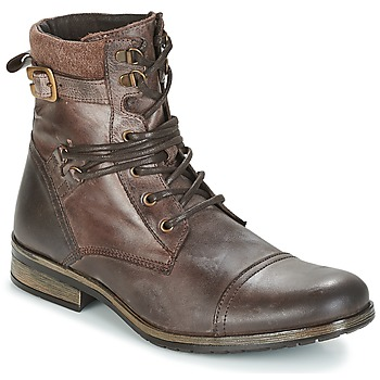 Shoes Men Mid boots Casual Attitude RIVIGH Brown