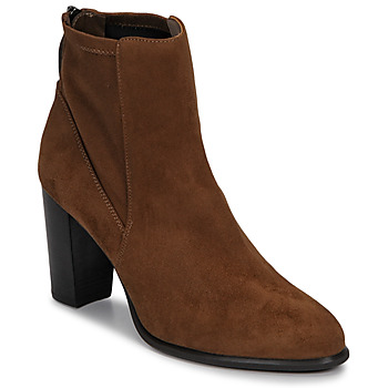 Shoes Women Ankle boots Unisa UNDER Brown