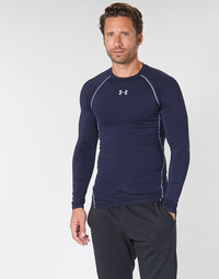 material Men Long sleeved shirts Under Armour HEATGEAR ARMOUR LS COMPRESSION Marine