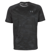 material Men short-sleeved t-shirts Under Armour TECH 2.0 SS PRINTED Black
