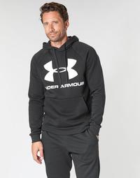 material Men sweaters Under Armour RIVAL FLEECE SPORTSTYLE LOGO HOODIE Black