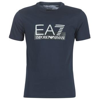 material Men short-sleeved t-shirts Emporio Armani EA7 GPT81-PJM9Z-1554 Marine