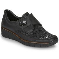 Shoes Women Low top trainers Rieker 537C0-02 Black