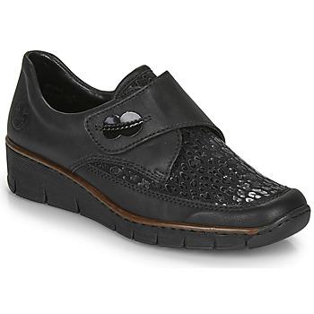 Shoes Women Loafers Rieker 537C0-02 Black