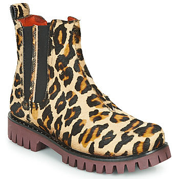 Shoes Women Mid boots Papucei PORTO ANIMAL PRINT Leopard