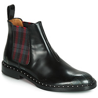 Shoes Women Mid boots Melvin & Hamilton SALLY Black / Tartan