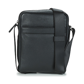 Bags Men Pouches / Clutches Le Tanneur CHARLES REPORTER MEDIUM Black