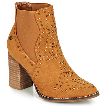 Shoes Women Ankle boots Xti AMELIO Camel