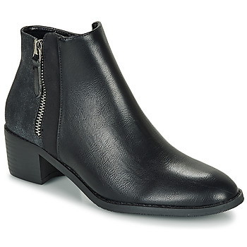 Shoes Women Mid boots Moony Mood FALINE Black