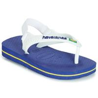 Shoes Children Flip flops Havaianas BABY BRASIL LOGO Marine