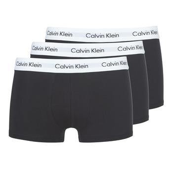 Underwear Men Boxer shorts Calvin Klein Jeans COTTON STRECH LOW RISE TRUNK X 3 Black