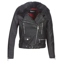 material Women Leather jackets / Imitation le Molly Bracken HA006A21 Black