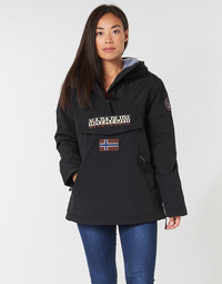 material Women Parkas Napapijri RAINFOREST POCKET Black