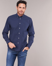 material Men long-sleeved shirts Pepe jeans DAVON Marine