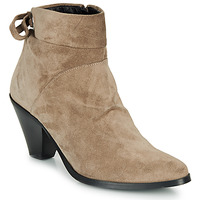Shoes Women Ankle boots Regard RAKAF V3 CRTE VEL SILKY Beige