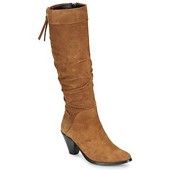 Shoes Women Boots Regard RAKAFOU V2 CRTE VEL SILKY Camel