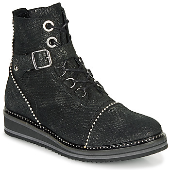 Shoes Women Mid boots Regard ROCTALY V2 CRTE SERPENTE SHABE Black