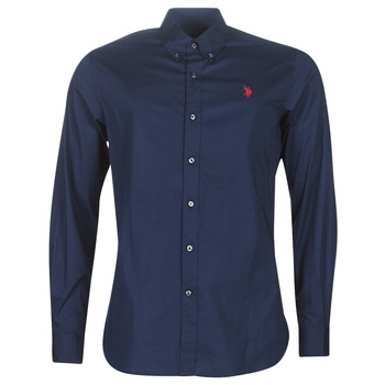 material Men long-sleeved shirts U.S Polo Assn. ZED SHIRT BD Marine