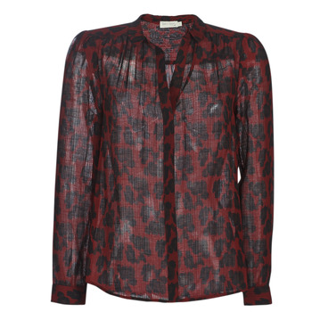 material Women Blouses See U Soon 9211130 Bordeaux / Black