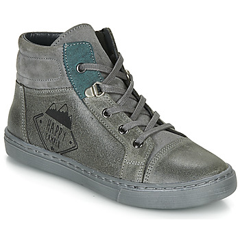 Shoes Boy Mid boots Citrouille et Compagnie LOKITO Grey